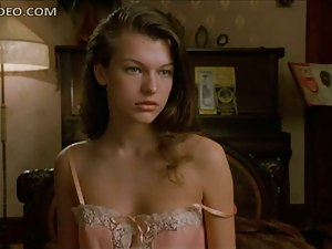 Stunning Milla Jovovich Getting Ready To Fuck